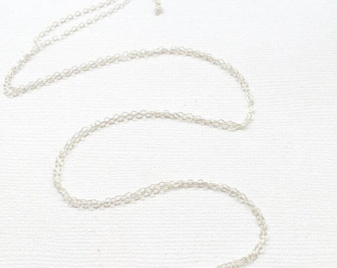 Flat Cable Chain - Sterling Silver