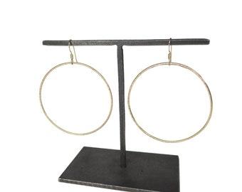 """Gold Hoop Earrings -  2"""""""