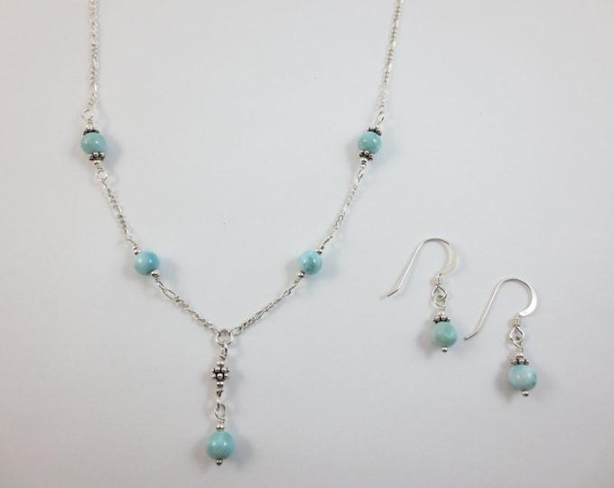 Larimar Jewelry Set - 6mm