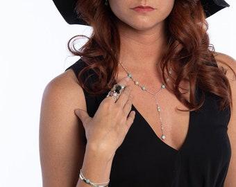 Larimar & Pearl Jewelry Set