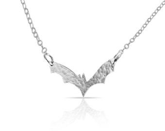Silver Bat Necklace