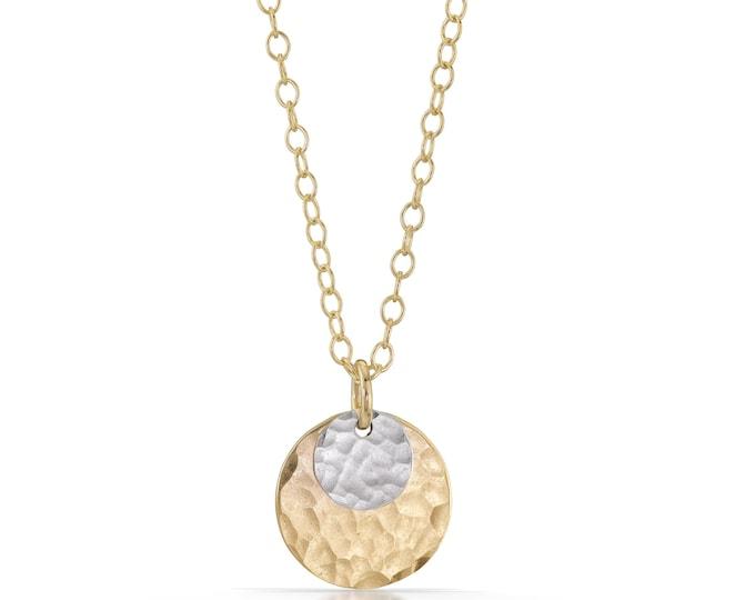 Dot Disc Necklace