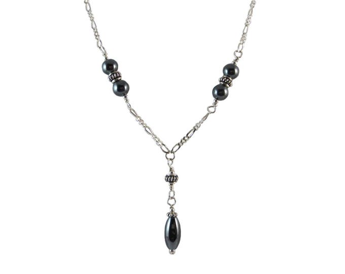 Hematite Oval Necklace