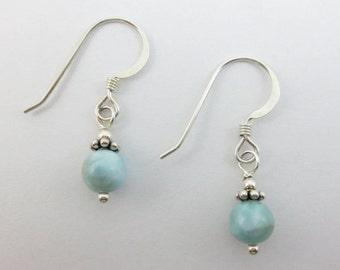 Sky Blue Larimar Earrings