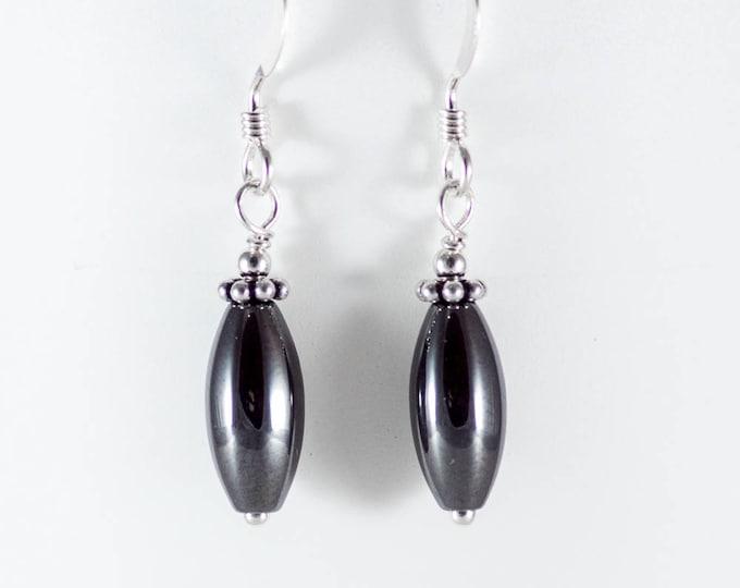 Hematite Oval Earrings