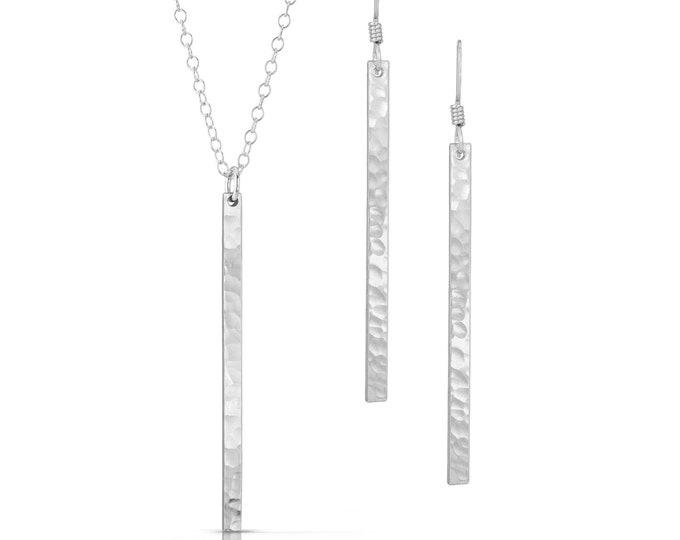 Silver Bar Jewelry Set