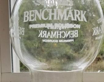Vintage Glass Lamp Shade Engraved Premium Bourbon-Benchmark
