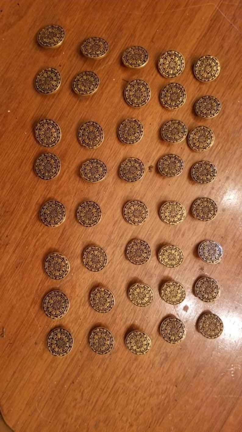 45 Brass Vintage Buttons