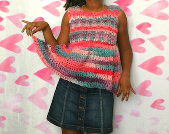 The In A Daze Crochet Tunic Top Pattern. Instant Download!