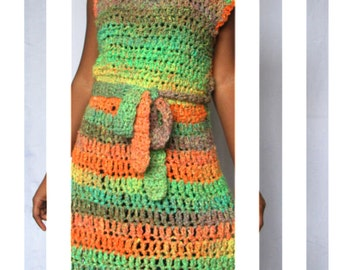 The Dazzled Crochet Dress Pattern. Instant Download!