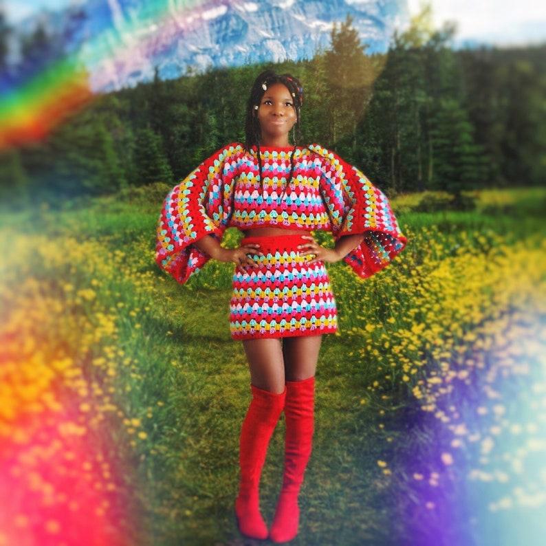 The Moonbeam Crochet Top and Crochet Skirt Pattern. Instant image 0