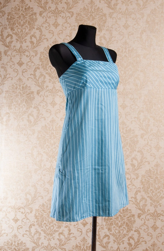 Light blue Marimekko Striped Strap Jokapoika dres… - image 5