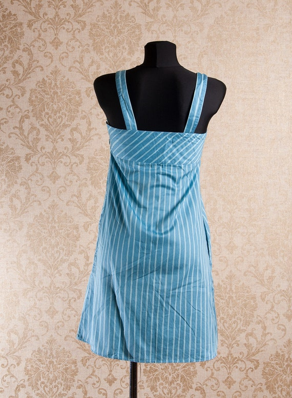 Light blue Marimekko Striped Strap Jokapoika dres… - image 3