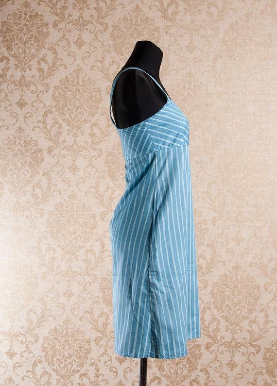 Light blue Marimekko Striped Strap Jokapoika dres… - image 4
