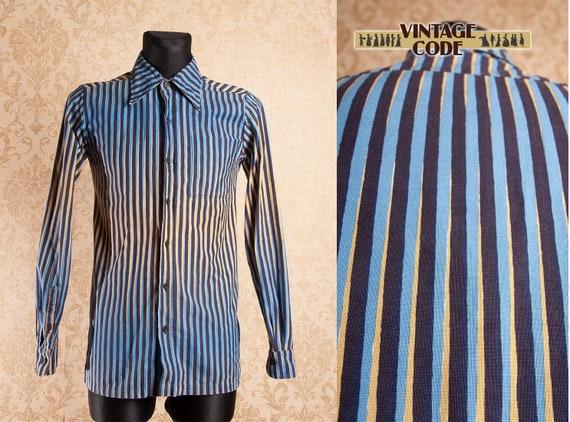 RARE 70s vtg Men's Marimekko Vintage Cotton Stripe