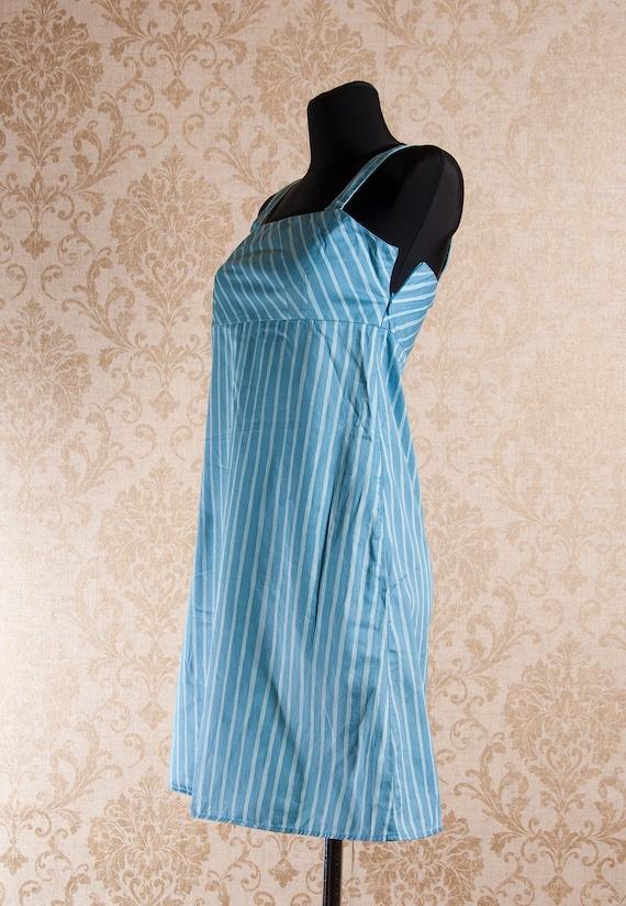 Light blue Marimekko Striped Strap Jokapoika dres… - image 2