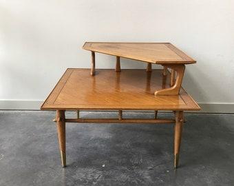 Vintage Mid Century Modern Lane Corner Table. Antique Furniture. Retro  Decor.