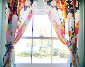 Coral Jubilee Curtains Or Valance