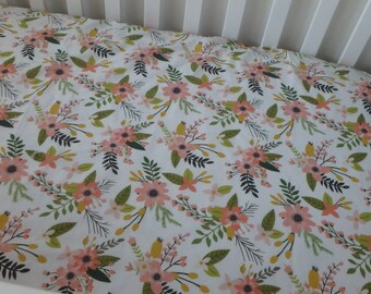 Sprigs and Blooms Crib Sheet