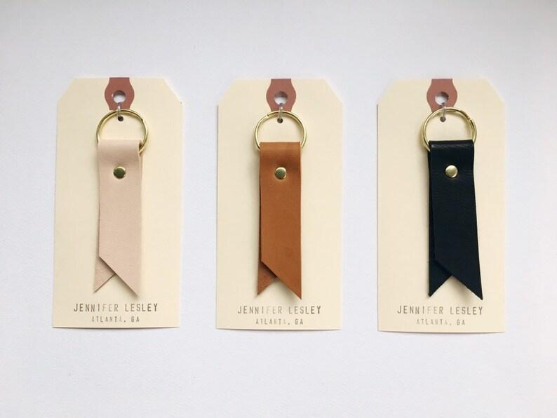 9c918495acac3 Leather Ribbon Key Ring Leather Keychain Key Fob Minimalist