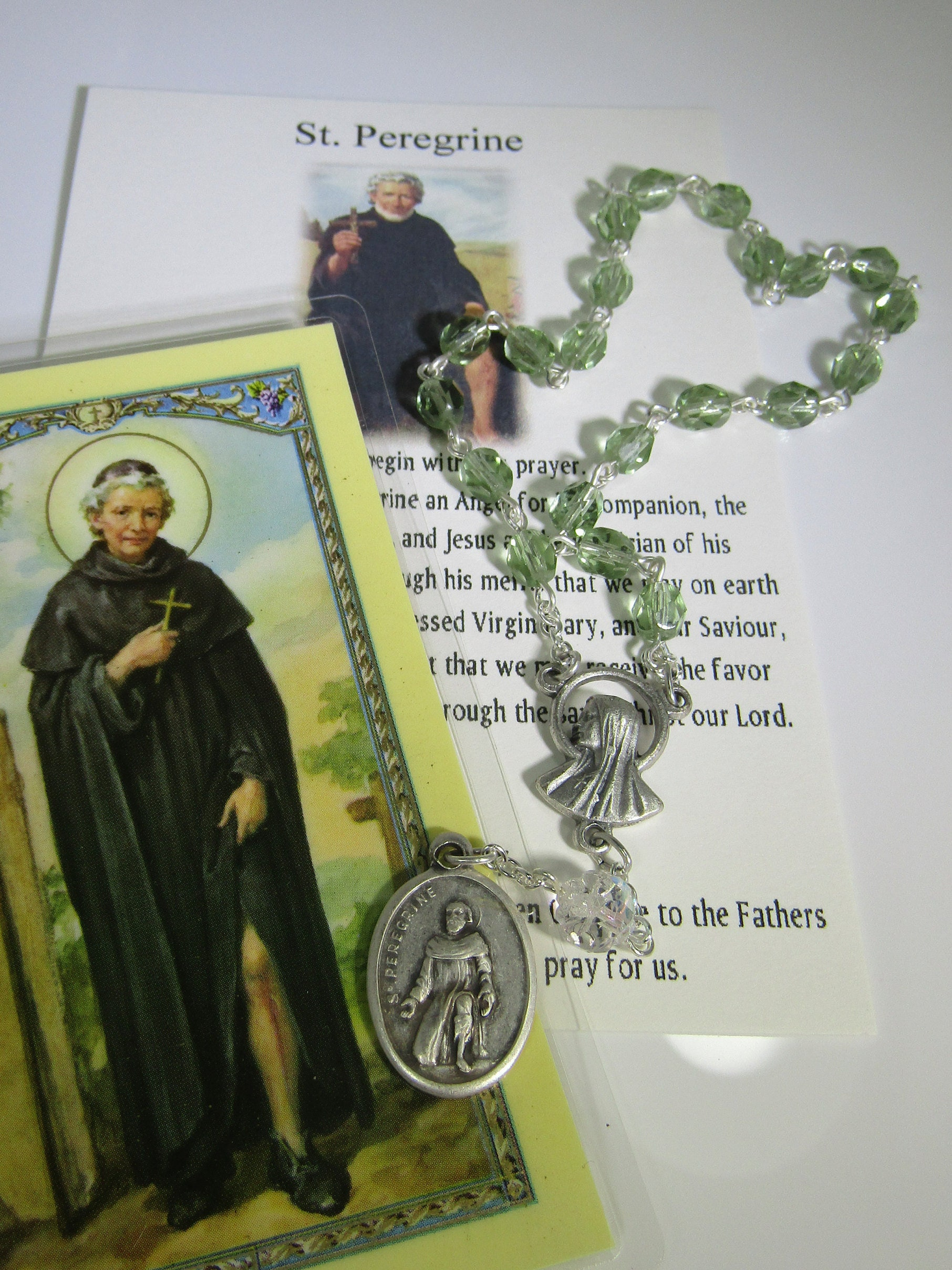 St  Peregrine~Rosary Chaplet,patron St of cancer,Saint of Incurable,  Incurable Disease St, St Incurable disease, HIV Saint, Saint for AIDS,