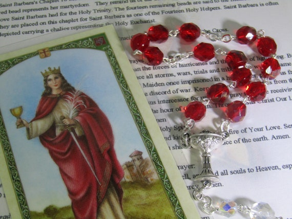 St  Barbara  Chaplet~firefighters,sailors,artillerymen,Architects,Mathematicians,Miners,Prisoners,danger  of sudden death,mariners,Syria