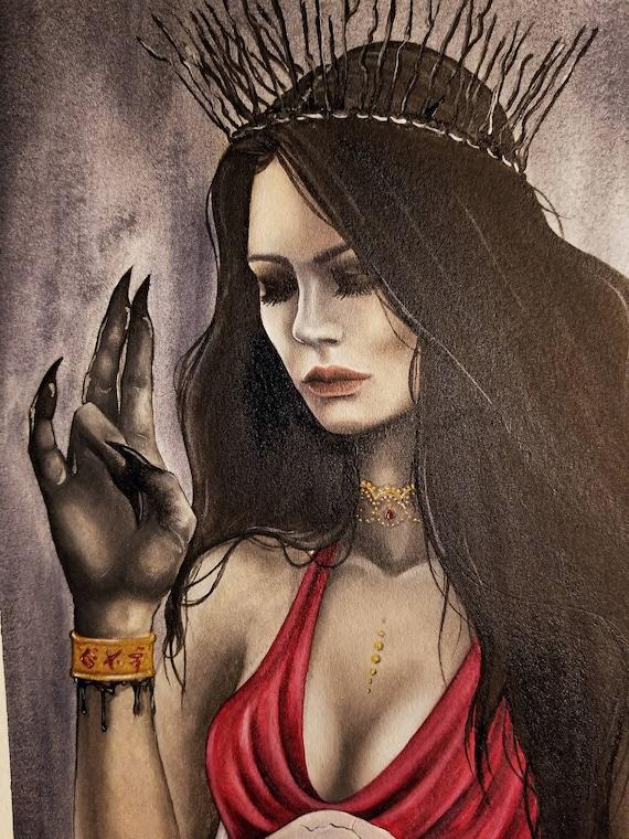 IMPRIMIR Lilith macabro cráneo surrealista demonio | Etsy