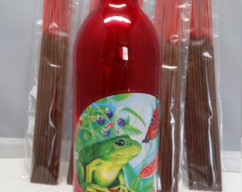 Bullfrog and Butterfly Kisses .... with 100 incense (choose five scents)