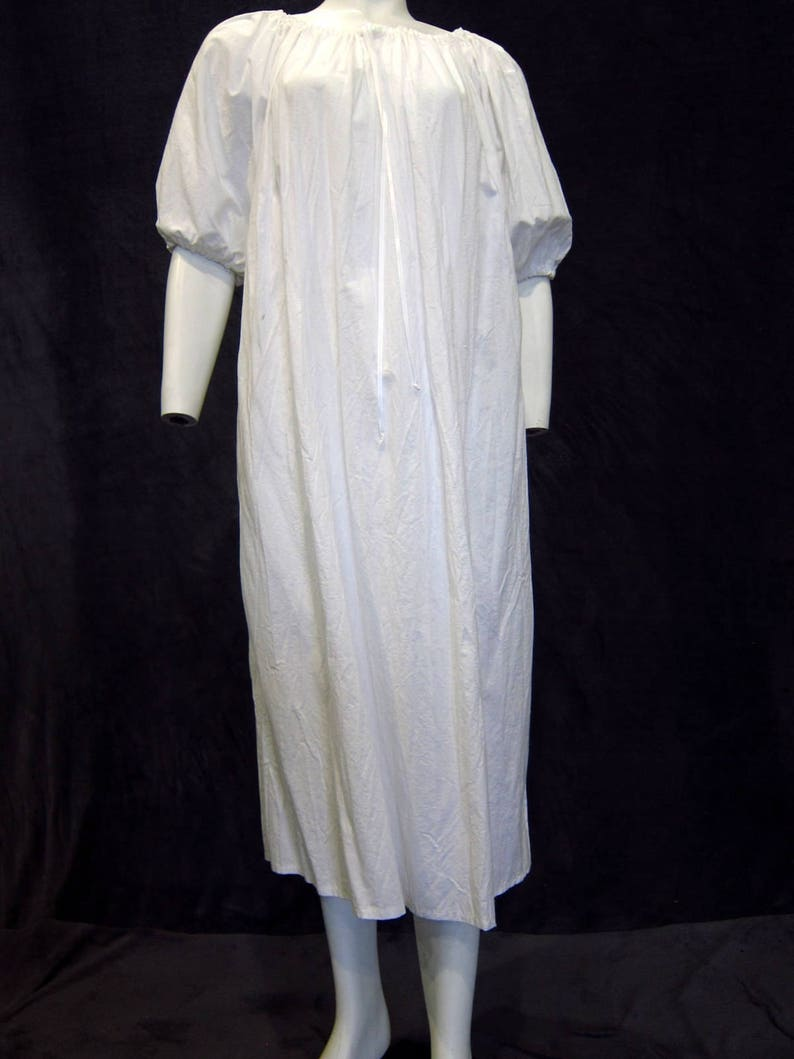 White Medieval Chemise Dress Under Dress Peasant Dress image 0
