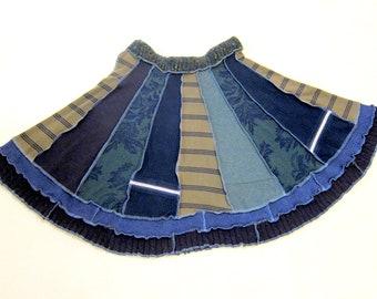 Sweater Swing Skirt, Size 16, Ethical Clothing Plus Size Upcycled Sweater Circle Skirt, Recycled Sweater Skirt