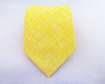 Men's Necktie - Butter Crosshatch