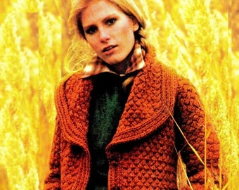 """Vintage 70's Knit """"BLAZER"""" Jacket - PDF Pattern"""