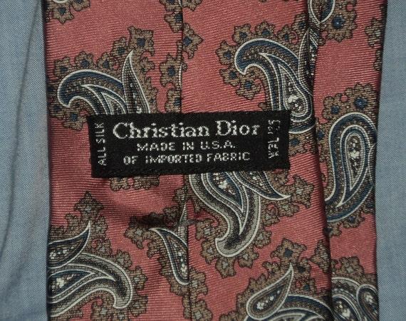 1980s pink vintage Christian Dior necktie - image 2