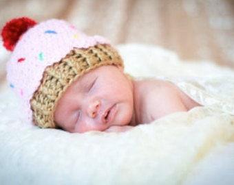 beb3fc96fd2 Newborn cupcake hat
