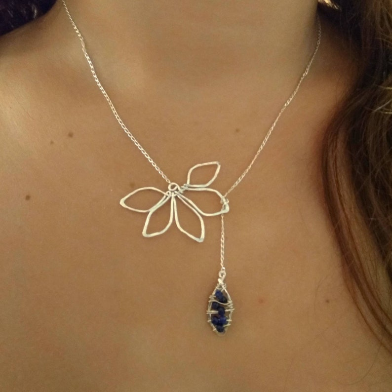 Sapphire Necklace-Sapphire gemstones-September Birthstone  image 0