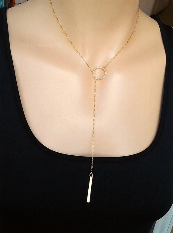 Lariat Y Choker Necklace,Drop,Necklace,Lariat Necklace,Bar Drop Necklace,pure handmade.