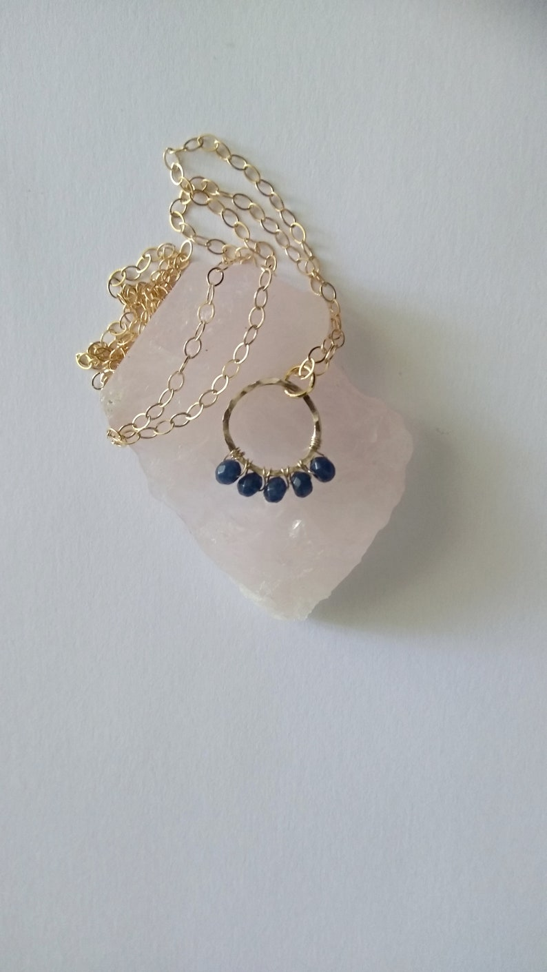 Real Sapphire Necklace Bridesmaid Necklace September image 0