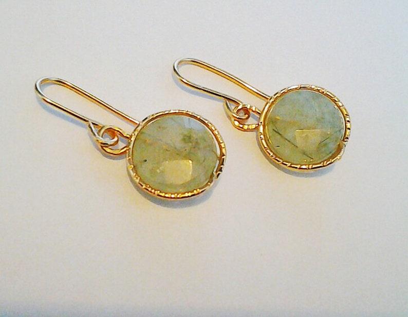 Fluorite Earrings Green Earrings Green Gemstone jewelry image 0