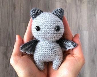 Free Crochet Pattern: SIR BATWINGTON (DIY Tutorial quick easy cute small mini spooky Halloween bat kawaii goth cat kitty kitten neko wings)