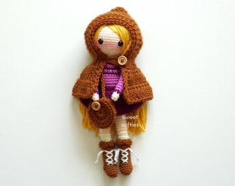 ELIORA the ELF Amigurumi Crochet Doll Pattern (DIY Tutorial quick easy cute kawaii yarn fantasy kids waldorf girl female medieval play toy