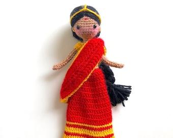 International Doll East Indian: Sanjana | Amigurumi Crochet Pattern Tutorial -  Cultural Traditional Hindu Woman Female Girl Doll Fiber Art