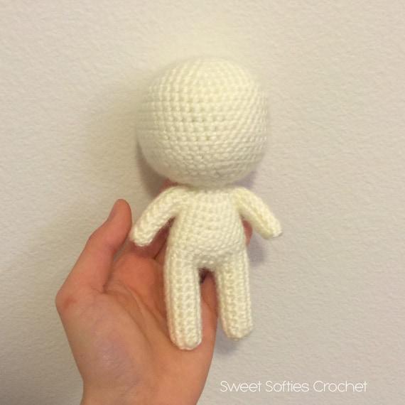 6 Chibi Puppe Base Amigurumi Häkeln Muster für | Etsy