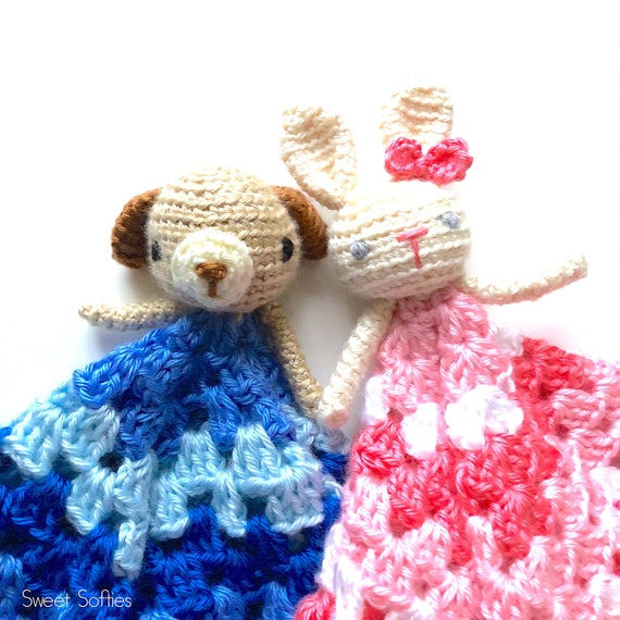 Free Amigurumi Crochet Pattern Puppy Dog Bunny Rabbit Lovey Etsy