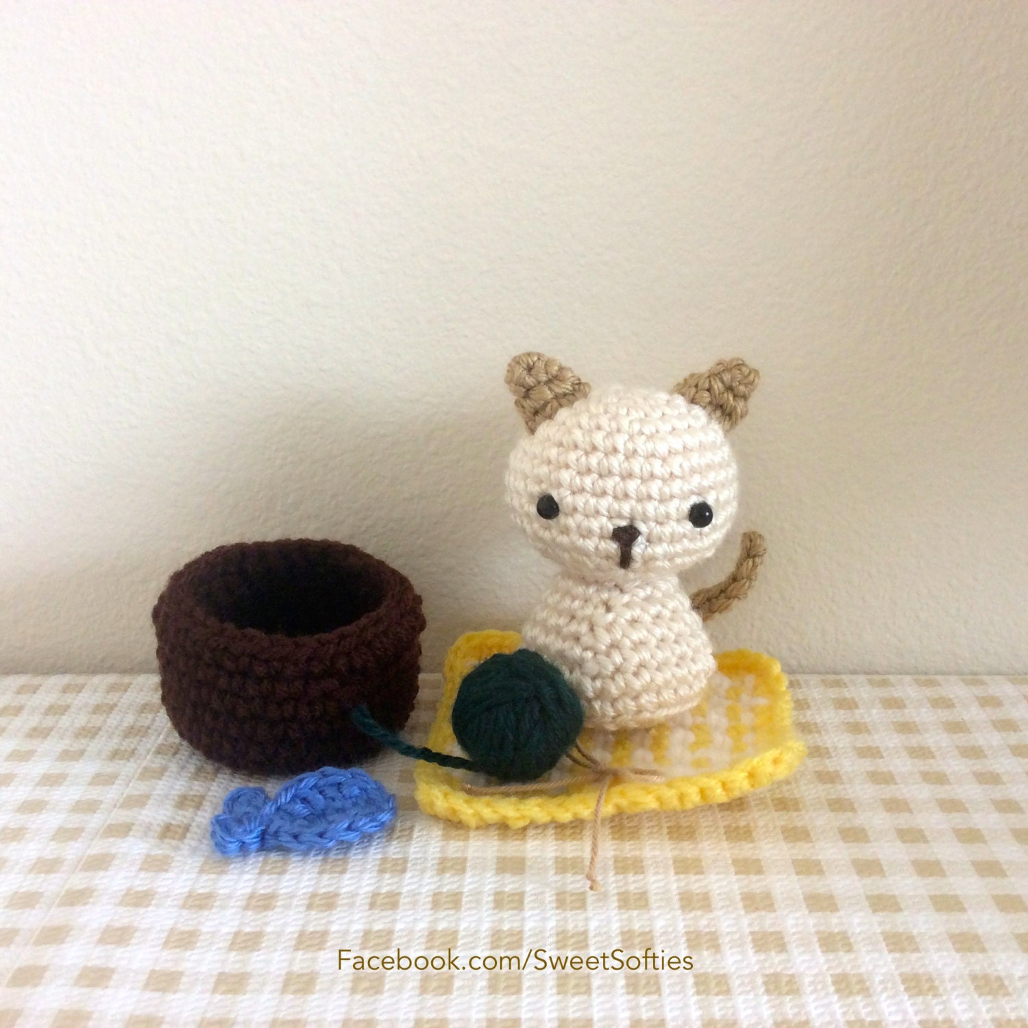 Amigurumi Crochet patrón Animal Kitty Cat Chibi Kokeshi muñeca | Etsy