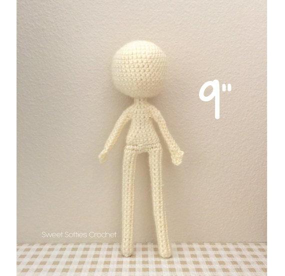 9 muñeca delgada Base patrón Amigurumi Crochet para | Etsy