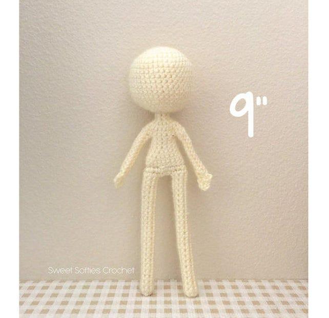 9 schlanke Puppe Base Amigurumi Häkeln Muster für | Etsy
