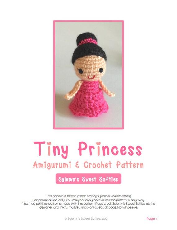 Pequeñas princesas Amigurumi ganchillo patrón muchacha de | Etsy