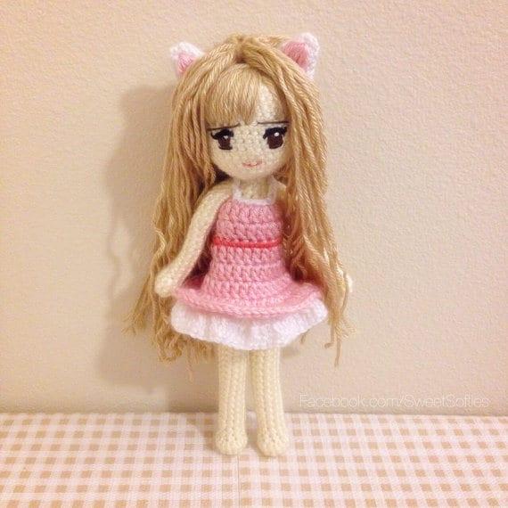 Amigurumi Häkeln Puppe Muster Anime Kiki Kitty Cat Girl Mit Etsy