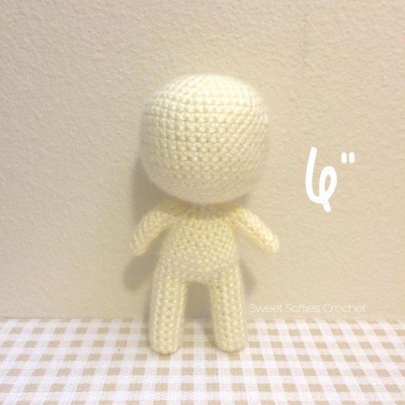 6 Base de muñeca Chibi Amigurumi Crochet patrón | Etsy