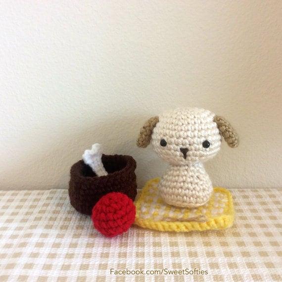Patrón amigurumi Crochet Animal perro Chibi Kokeshi muñeca | Etsy